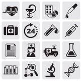 Medicine & Heath Care icons Royalty Free Stock Photo