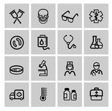 Medicine & Heath Care icons Royalty Free Stock Images