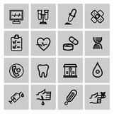 Medicine & Heath Care icons Royalty Free Stock Image