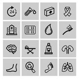 Medicine & Heath Care icons Stock Photography