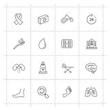 Medicine & Heath Care icons. Vector Medicine & Heath Care icons set on white Stock Image