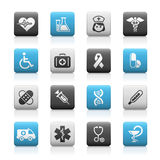 Medicine & Heath care // Matte Icons Series. Matte buttons set for your website or presentations Royalty Free Stock Image