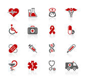 Medicine & Heath care // Redico Series. Set of decorative red and gray icons isolated on white background for your web site or presentations Stock Photo
