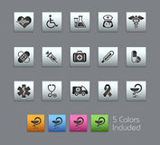 Medicine & Heath Care // Satinbox Series. Medical icons for your website or presentation Royalty Free Stock Photos