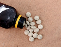Medicine Herbal pills , alternative drug. Natural pharmaceutical pill, . Vitamin supplement for care, medication, treatment. Stock Photos