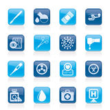 Medicine and hospital equipment icons Stock Photos