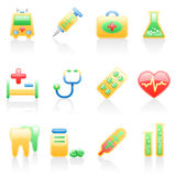 Medicine icon set. Royalty Free Stock Photo