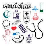 Medicine icon set Royalty Free Stock Images