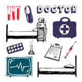 Medicine icon set Stock Photography
