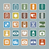 Medicine icon set Royalty Free Stock Photo