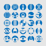 Medicine icon set royalty free stock image