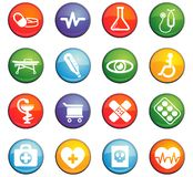 Medicine icon set. Medicine  icons for user interface design Royalty Free Stock Photo