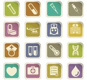 Medicine icon set. Medicine  icons for user interface design Royalty Free Stock Images