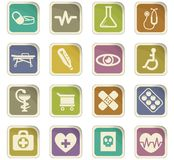 Medicine icon set. Medicine  icons for user interface design Stock Photos