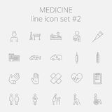 Medicine icon set Stock Photo