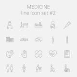 Medicine icon set. Vector dark grey icon isolated on light grey background Stock Photo