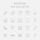 Medicine icon set Stock Photos