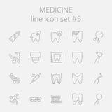 Medicine icon set Stock Photos