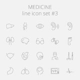 Medicine icon set. Vector dark grey icon isolated on light grey background Royalty Free Stock Image