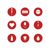 Medicine. Icon set Stock Photos