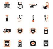 Medicine icon set Stock Photography