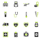 Medicine icon set. Medicine web icons for user interface design Royalty Free Stock Photography