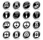 Medicine icon set Royalty Free Stock Images
