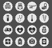 Medicine icon set Stock Images