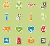 Medicine icon set. Medicine web icons for user interface design Stock Photos