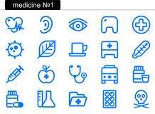 Medicine icons (1) Stock Images
