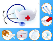 Medicine icons Stock Photo