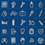 Medicine  icons. Medicine and Health  icons, set 25 Stock Image