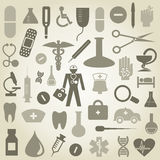 Medicine icons Royalty Free Stock Image