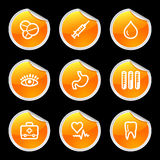 Medicine icons Stock Images