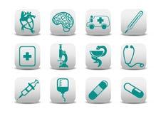 Medicine icons Stock Photos