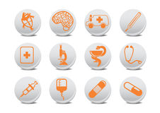 Medicine icons Stock Photography