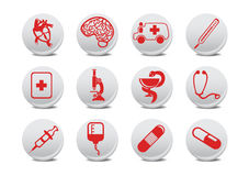Medicine icons Royalty Free Stock Photo