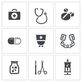 Medicine icons collection Stock Photos