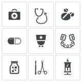 Medicine icons collection Stock Photos