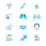 Medicine icons | MARINE series Royalty Free Stock Photos