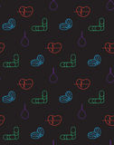 Medicine icons seamless pattern Stock Image