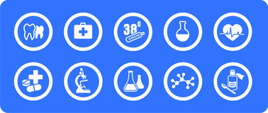 Medicine  icons set Royalty Free Stock Photo