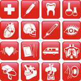 Medicine. Icons set. Royalty Free Stock Photo