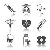 Medicine Icons Set Royalty Free Stock Image