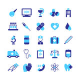 Medicine Icons Set Stock Photography