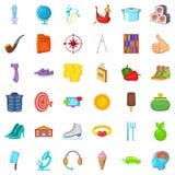 Medicine icons set, cartoon style. Medicine icons set. Cartoon style of 36 medicine vector icons for web isolated on white background Stock Photos