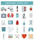 Medicine icons set Stock Image