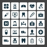 Medicine Icons Set. Collection Of Mark, Pellet, Beating And Other Elements. Also Includes Symbols Such As Chest Royalty Free Stock Photo