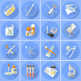 Medicine icons set  flat Stock Photo