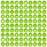 100 medicine icons set green. 100 medicine icons set in green circle isolated on white vectr illustration Royalty Free Illustration